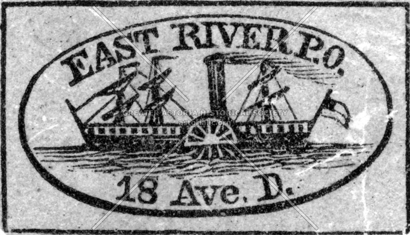 Cancellation stamp of the East River Post Office