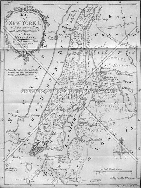 Kitchin map of 1778; note how the skeleton of modern NYC is taking shape