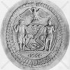 Former seal of New York City replaced in the 1980s.