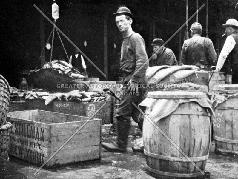 Fulton Fish Market in the 1800s