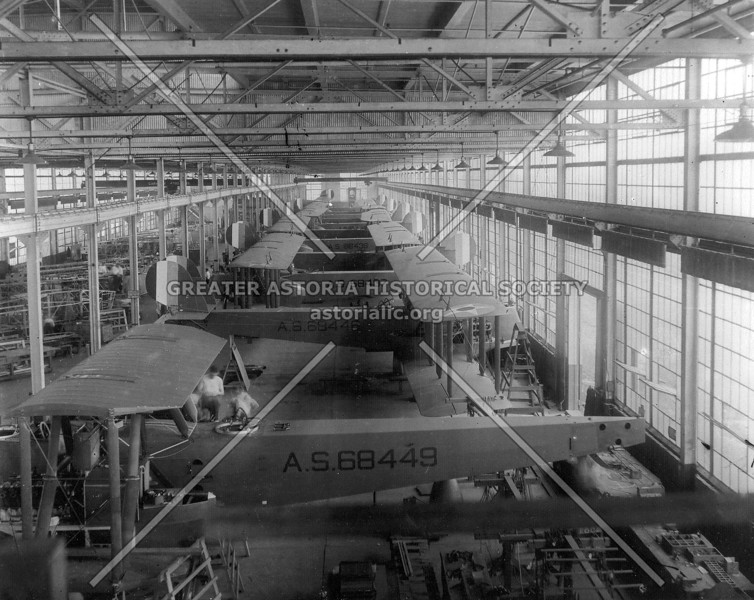 Mass produced airplanes under construction at the LWF Company division of the Sikorsky Aircraft plants at College Point