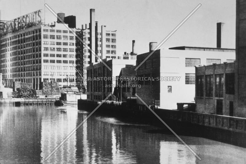 Scene of Degnon Terminal (background) at Dutch Kills, a branch of Newtown Creek