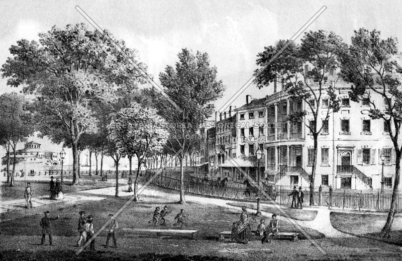 """""""Steamship Row"""", or State Street, home to counting house merchants and considered once as the finest block in Manhattan"""