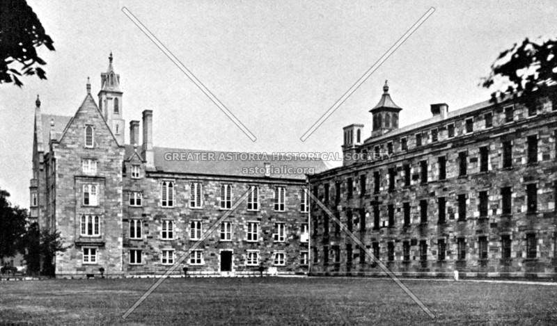 Blackwells Island workhouse, meant for petty criminals --Now Roosevelt Island