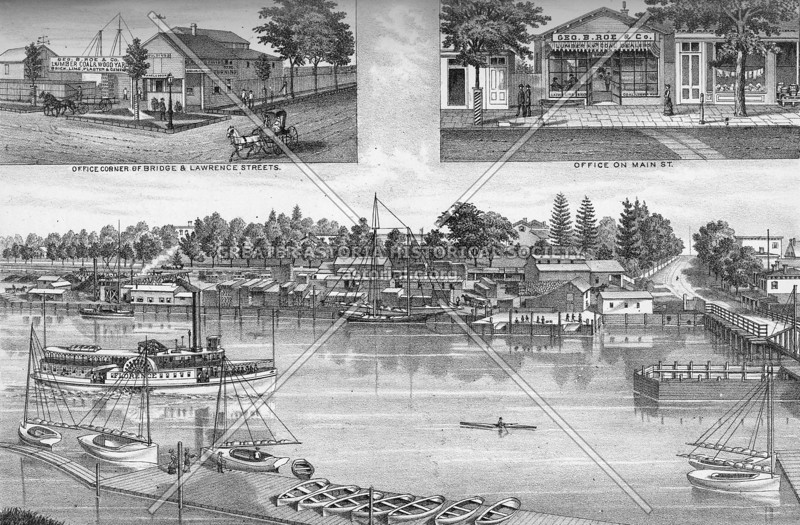 Flushing Waterfront in the 1870s.