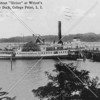 "Post card view of the steamboat ""Sirius"" docked at Witzel's Point View Beer Garden in College Point"