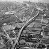 Aerial view of the highways and rairoads traversing Newtown Creek in the mid 20th century, when it was perhaps the most concentrated industrial precinct in the country.