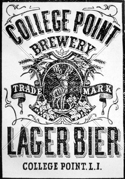 Beer label, College Point