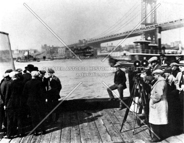 The silent era movie Big Brother shot on location, a story of Lower East Side gang warfare.  (Note Manhattan Bridge span in the background.)