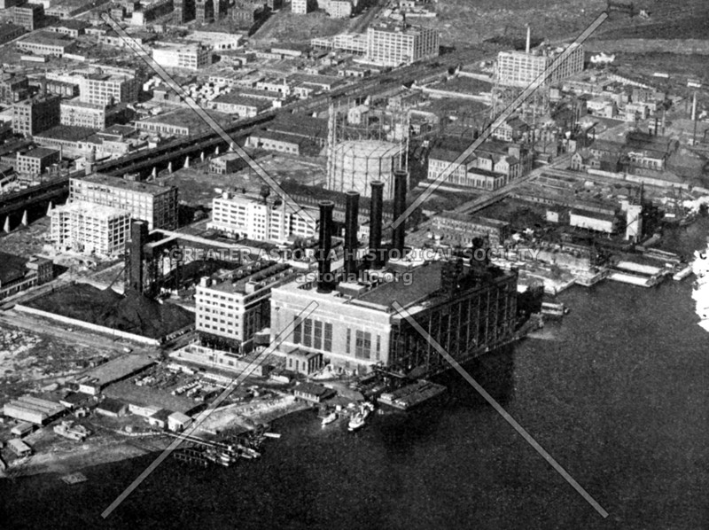 Power plant at Port Morris in the Bronx