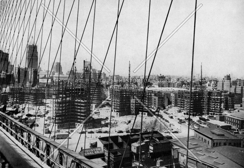Late 1940s view of the Governor Alfred E. Smith Houses under construction