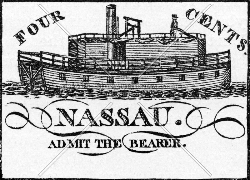 Fanciful depiction of the Nassau, an early Brooklyn ferry