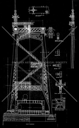 Original architectural rendering of a Queensboro bridge tower.