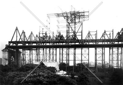 Falsework under central span truss.