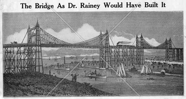 Workers sank a caisson in Ravenswood for a bridge in 1881.