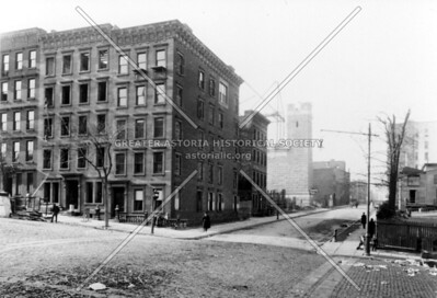 Buildings being removed for the Queensboro Bridge on the SW corner of York Avenue and 60th Street, looking west. 1901