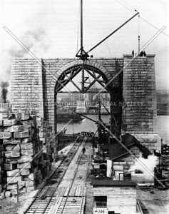 The Queens masonry pier for the Queensboro Bridge