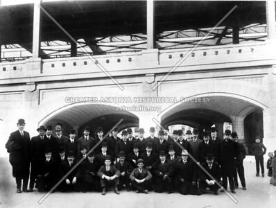 Photograph of Bridge engineers on opening day.