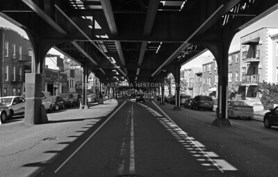 31st Street looking N near Astoria Boulevard under the elevated train.