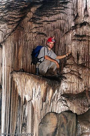 Salão dos Discos na Caverna Santana, PETAR - Iporanga, SP. FOTO: Martin Wiersmeier Tello