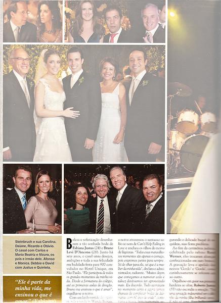 Casamento Fabiana Justus - Revista Caras - Edição 910 / Ano 18 / N 15 / 15 de Abril de 2011