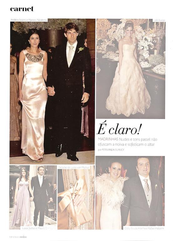 Casamento Fabiana Justus - Revista Vogue Noivas  - Especial Noivas N 18 - 2011