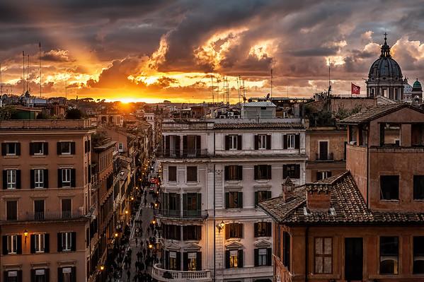 Via Condotti - Piazza di Spagna - Roma - Janeiro 2013