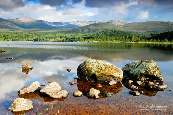 River Spey. Cairngorms National Park. Aviemore. Scotland.
