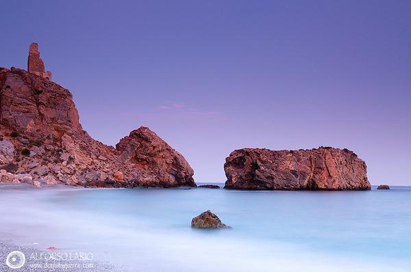 Colaborando para SOS Paisajes de Mar. Cala Rijana. Granada. España
