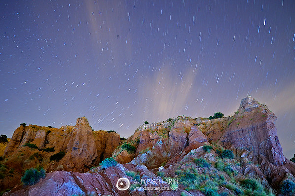 Estrellas sobre el rio Monnegre. Mutxamel. Alicante