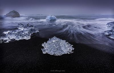 Diamantes en el Lago Jökulsarlon