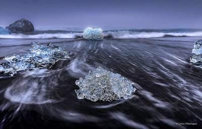 Diamantes II en el Lago Jökulsarlon
