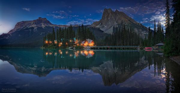 Noche de Luna en Emerald Lake