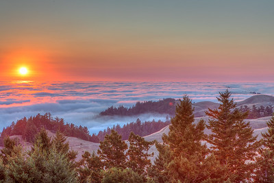 Sunset Above the Fog