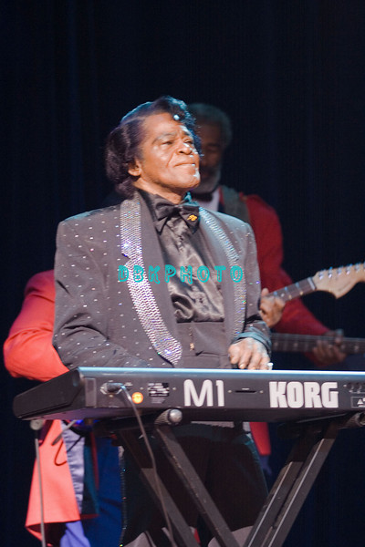 """ATLANTIC CITY - MAY 28: The Memorial Day holiday included the """"Godfather of Soul,"""" James Brown as he performs at the House Of Blues in the Showboat Hotel And Casino, May 28, 2006 in Atlantic City, New Jersey."""