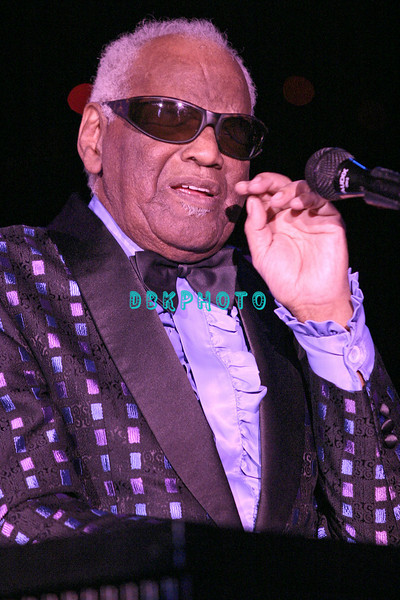 ATLANTIC CITY- JULY 4, 2003, Ray Charles appeared in The Superstar Theater in Resorts Casino Hotel for the holiday weekend and was greeted with a standing ovation by the sold out room the minute he came out on stage. Charles, age 73, died on June 10th  of complications from liver disease at his home in Beverly Hills