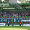 06.08.2010 - Belchatow , Pilka nozna - Ekstraklasa , PGE GKS Belchatow (zielone) - Polonia Bytom (czarne). n/z. Kibice Polonii Bytom Fot. Mariusz Palczynski / MPAimages.com