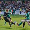 06.08.2010 - Belchatow , Pilka nozna - Ekstraklasa , PGE GKS Belchatow (zielone) - Polonia Bytom (czarne). Fot. Mariusz Palczynski / MPAimages.com