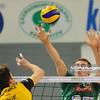 15.01.2011 - Belchatow , Siatkowka - PlusLiga , PGE SKRA Belchatow (zolte) - AZS UWM Olsztyn (zielone). N/Z Michal Bakiewicz Fot. Mariusz Palczynski / MPAimages.com