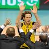 26.01.2011 - Belchatow , Siatkowka - PlusLiga , PGE SKRA Belchatow (zolte) - AZS Warszawa (czarne). N/Z Stephane Antiga Fot. Mariusz Palczynski / MPAimages.com