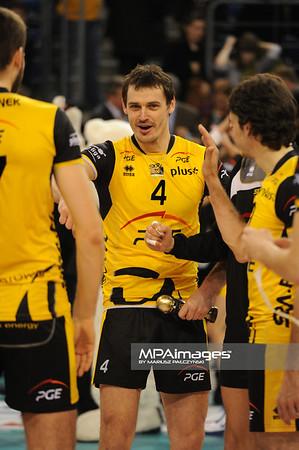 05.02.2011 - Belchatow , Siatkowka - PlusLiga , PGE SKRA Belchatow (zolte) - Resovia Rzeszow (czarne) N/Z Daniel Plinski Fot. Mariusz Palczynski / MPAimages.com