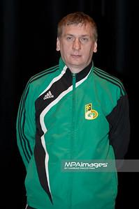 15.02.2011 - Belchatow , Pilka nozna - Ekstraklasa , Przedsezonowa prezentacja PGE GKS Belchatow (zielone) N/Z II trener Kamil Kieres Fot. Mariusz Palczynski / MPAimages.com