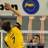 02.04.2011 - Belchatow , Siatkowka - PlusLiga , PGE SKRA Belchatow (zolte) - TYTAN AZS Czestochowa (czarne) N/Z Bartosz Kurek , Fabian Drzyzga Fot. Mariusz Palczynski / MPAimages.com