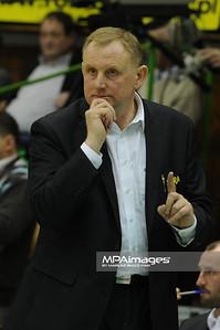 06.04.2011 - Czestochowa , Siatkowka - PlusLiga ,  TYTAN AZS Czestochowa (biale) - PGE SKRA Belchatow (czarne) N/Z Trener Jacek Nawrocki Fot. Mariusz Palczynski / MPAimages.com