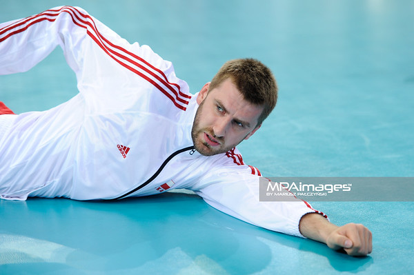 28.05.2011 - Lodz , Atlas Arena , Siatkowka , Liga Swiatowa 2011 ,  Polska (czerwone) - USA (biale) N/Z Marcin Mozdzonek Fot. Mariusz Palczynski / MPAimages.com