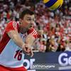 28.05.2011 - Lodz , Atlas Arena , Siatkowka , Liga Swiatowa 2011 ,  Polska (czerwone) - USA (biale) N/Z Krzysztof Ignaczak Fot. Mariusz Palczynski / MPAimages.com