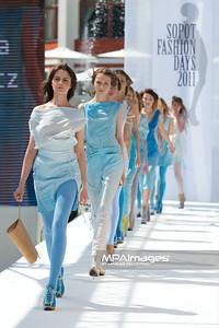 11.06.2011 - Sopot , Molo , Sopot Fashion Days , Prezentacje studentow szkol artystycznych N/Z Kolekcja - Katarzyna Ostapowicz Fot. Mariusz Palczynski / MPAimages.com