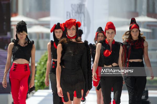 11.06.2011 - Sopot , Molo , Sopot Fashion Days , Prezentacje studentow szkol artystycznych N/Z Kolekcja - Magdalena Herwich Fot. Mariusz Palczynski / MPAimages.com