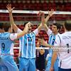 06.07.2011 - Gdansk , ERGO Arena , Siatkowka mezczyzn (Volleyball men's) , Finaly Ligi Swiatowej 2011 , FIVB World League Final 2011 ,  Argentyna (bialo-niebieskie) - Wlochy (granatowe) N/Z Siatakrze Argentyny Fot. Mariusz Palczynski / MPAimages.com