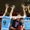 06.07.2011 - Gdansk , ERGO Arena , Siatkowka mezczyzn (Volleyball men's) , Finaly Ligi Swiatowej 2011 , FIVB World League Final 2011 ,  Argentyna (bialo-niebieskie) - Wlochy (granatowe) N/Z Quiroga , Zaytsev , Crer Fot. Mariusz Palczynski / MPAimages.com